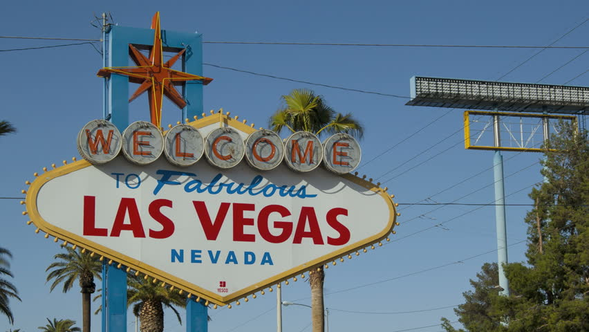 Timelapse of the famous Las Vegas Welcome-Sign during day-time