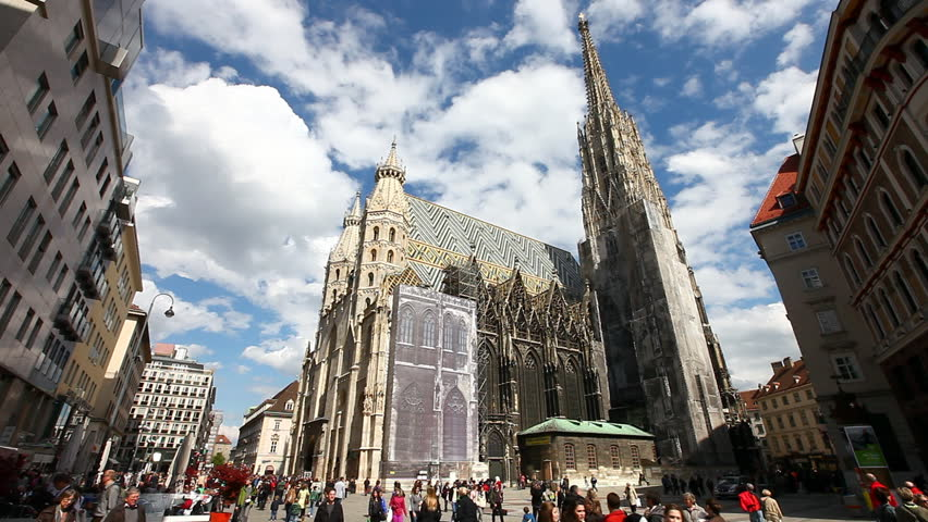 VIENNA, AUSTRIA - APRIL 22: Viennas most important Landmark The Stephansdom on April 22, 2012 in Vienna, Austria.