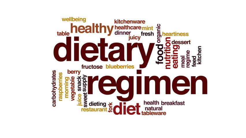Dietary regimen animated word cloud.   Shutterstock HD Video #22915816