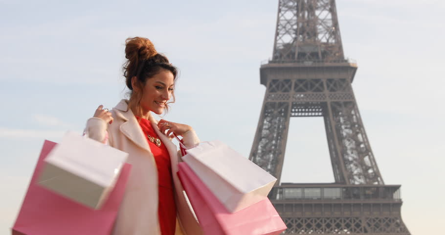 Paris, Woman shopping in Paris, 4K, UHD (3840X2160) | Shutterstock HD Video #22920466