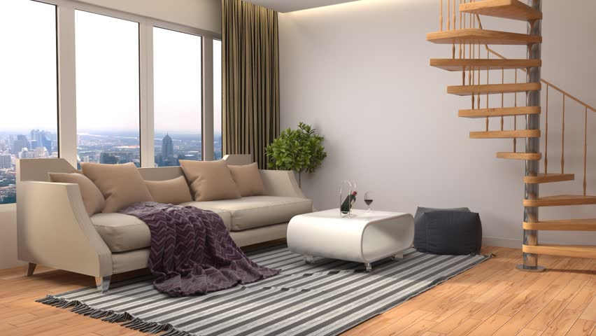 interior with sofa. 3d illustration #22948999