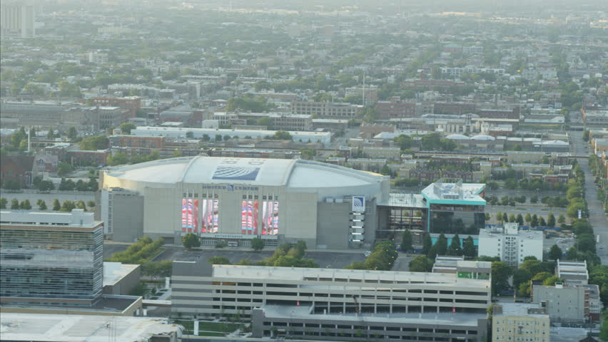 chicago bulkls united center panoramic 4k