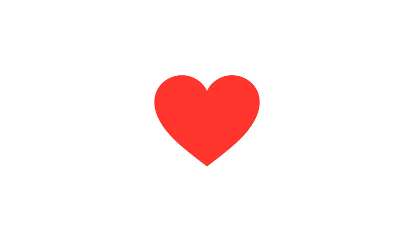 Beating Red Graphic Heart Icon. HD animation loop, can be used for Valentines or Mothers Day | Shutterstock HD Video #23007178