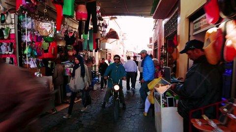 MARRAKESH, MOROCCO - January 17, 2017: Medina of marrakech