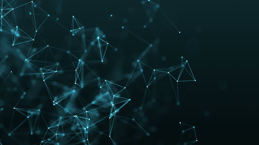 4K rendered computer generated video abstract moving background. Triangles, dots and lines are connecting with shine on blur background. Slow motion and shallow depth of field | Shutterstock HD Video #23047141