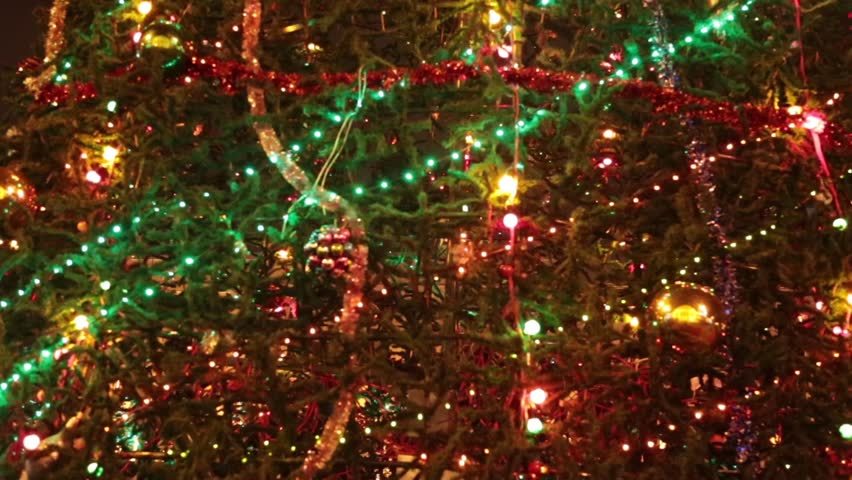 christmas tree with colorful bokeh and christmas lightschristmas and new year decoration - Christmas Lights Video