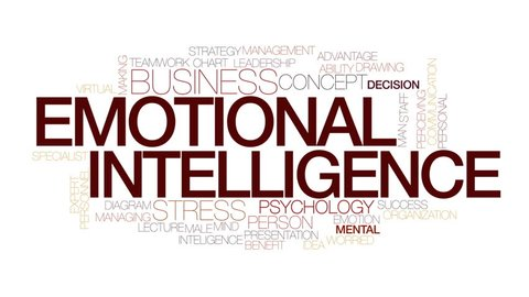 Emotional intelligence animated word cloud. Kinetic typography.
