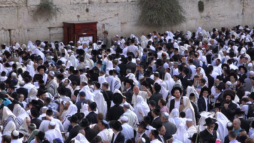 Jerusalem israel 19 october 2016 israel religion jewish jerusalem israel 19 october 2016 jewish worshipers gather for the birkat kohanim sciox Image collections
