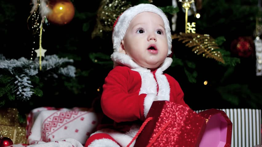 Christmas Baby Images Hd.Christmas Gift In Hands Of Stock Footage Video 100 Royalty Free 23220436 Shutterstock