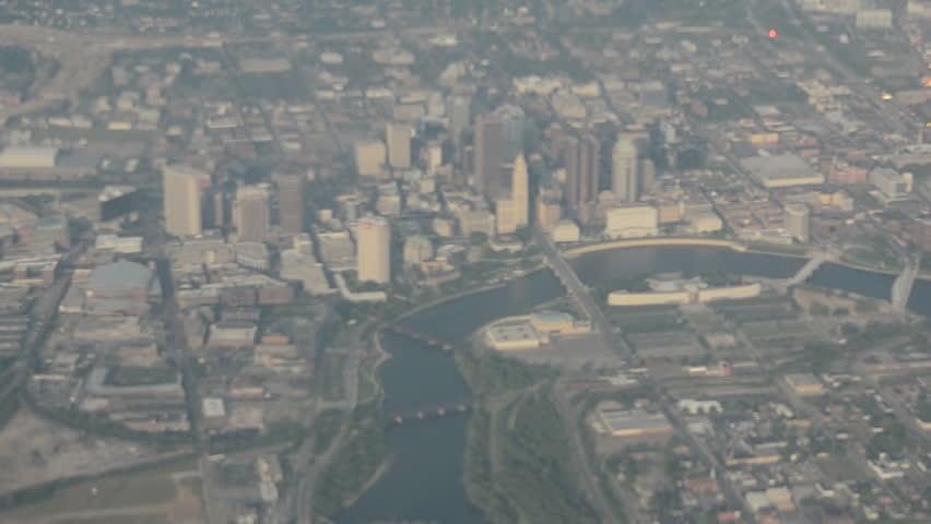 Aerial view of downtown Columbus, Ohio,USA