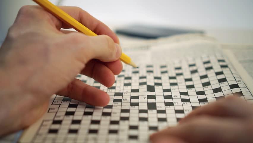 Brain train games - crossword puzzle   Shutterstock HD Video #23334670