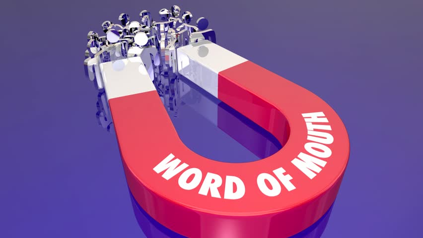 Word of Mouth Buzz Magnet Attract New Customers Magnet 3d Animation
