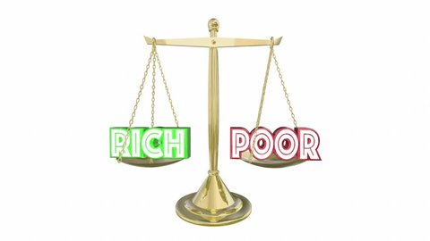 Rich Vs Poor Have or Not Scale Balance Class Warfare 3d Animation