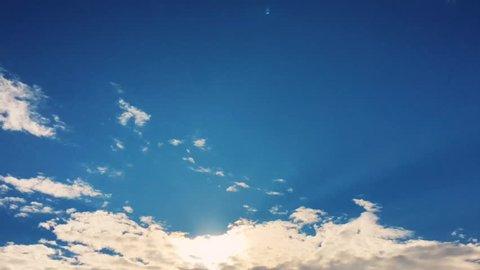 Blue sky.Clouds. Blue sky with clouds close up.