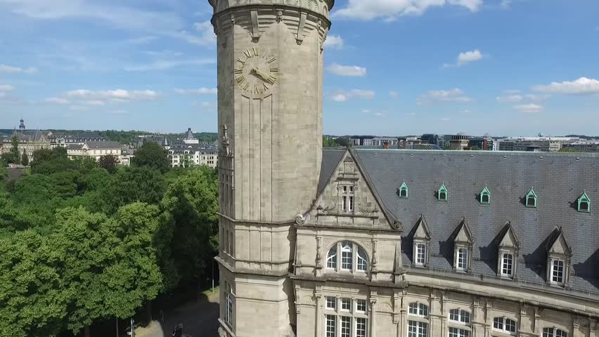 Aerial frames of Luxembourg center