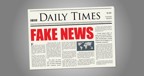 Fake News in a fake newspaper, spinning