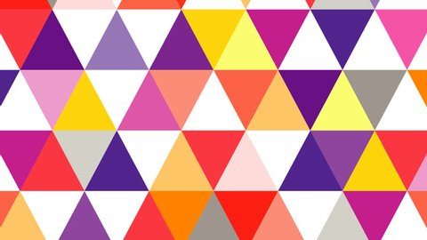 Geometric abstract colorful background animation. HD motion design triangle explotion.