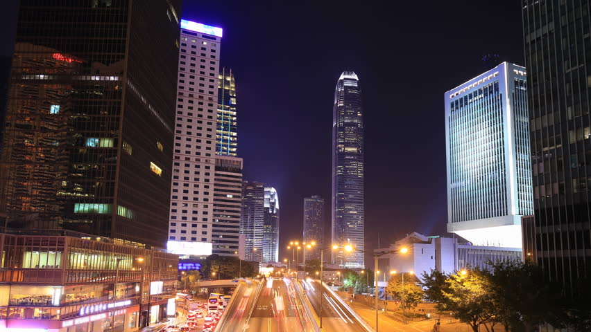 Time-lapse of Hong Kong city and traffic at night | Shutterstock HD Video #23455066