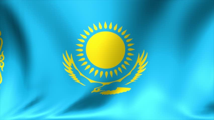 Flag Of Kazakhstan Animation Loop Stock Footage Video ... |Kazakhstan Animation