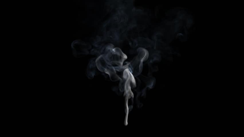 Realistic thin smoke with isolated on alpha-channel (with transparency)