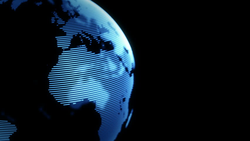 Digital world globe seamless loop. 4K animation | Shutterstock HD Video #23682886