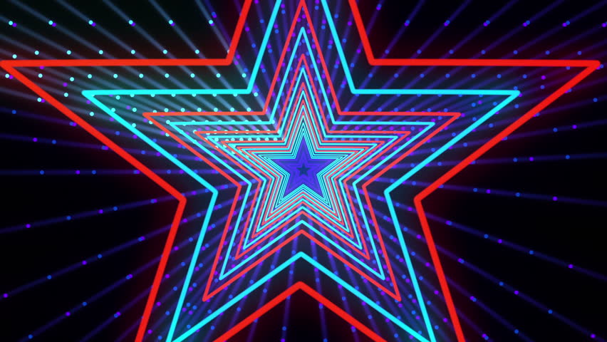 Discot Show Star Background is seamless motion graphics for music videos, events and fashion show, stage LED screens, broadcast TV, competitions, festivals and night clubs. | Shutterstock HD Video #23725606