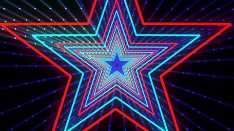 Discot Show Star Background is seamless motion graphics for music videos, events and fashion show, stage LED screens, broadcast TV, competitions, festivals and night clubs.