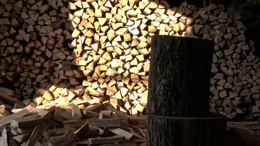A Man Split Oak Log Stock Footage Video (100% Royalty-free) 23766826    Shutterstock