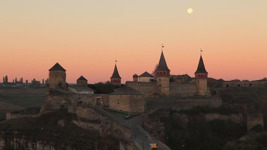 old castle kamenetz podolskyi ukraine hd stock video clip - Traditional Castle 2016