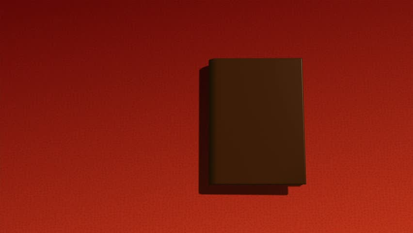 animated opening blank book with place for text and alpha channel