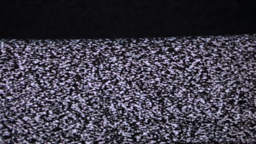 TV snow old CRT television looping