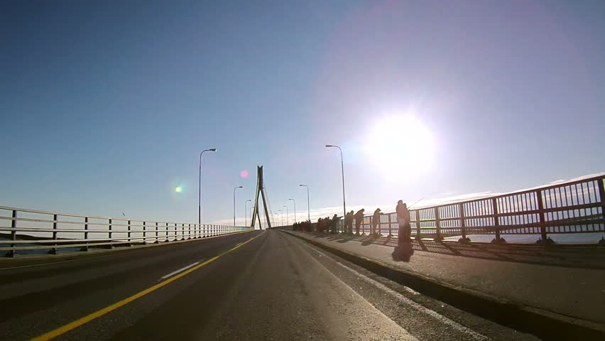 Fast Driving through the Guyed Bridge