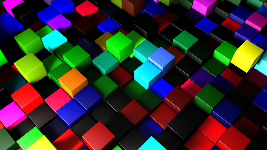 3D Colored squares vector backgrounds set 04 - Vector Background ...