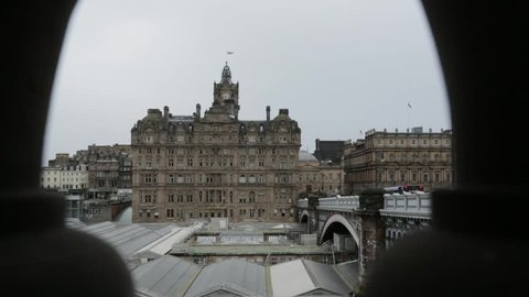 View of North Bridge in Edinburgh, Scotland, United Kingdom