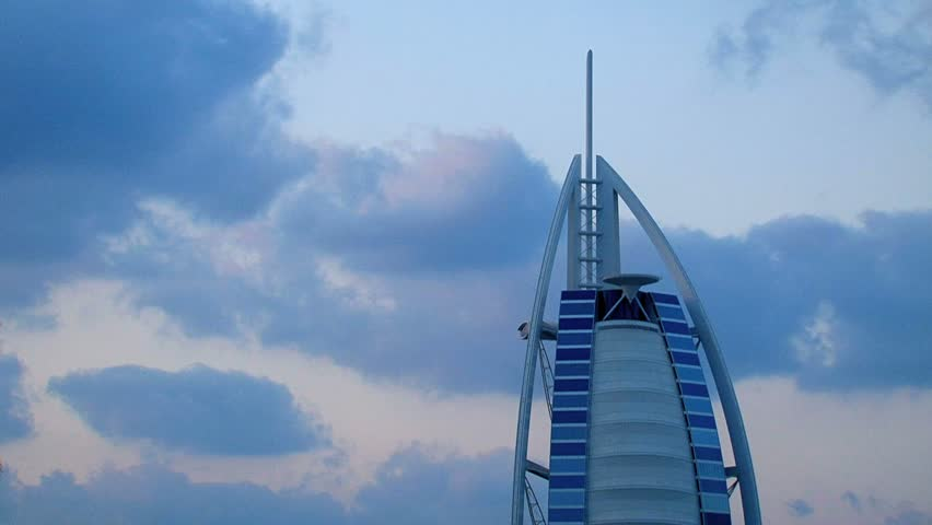 Dubai - Circa 2012: The Burj al Arab hotel in 2012. The famous Burj al Arab hotel in Dubai, United Arab Emirates.