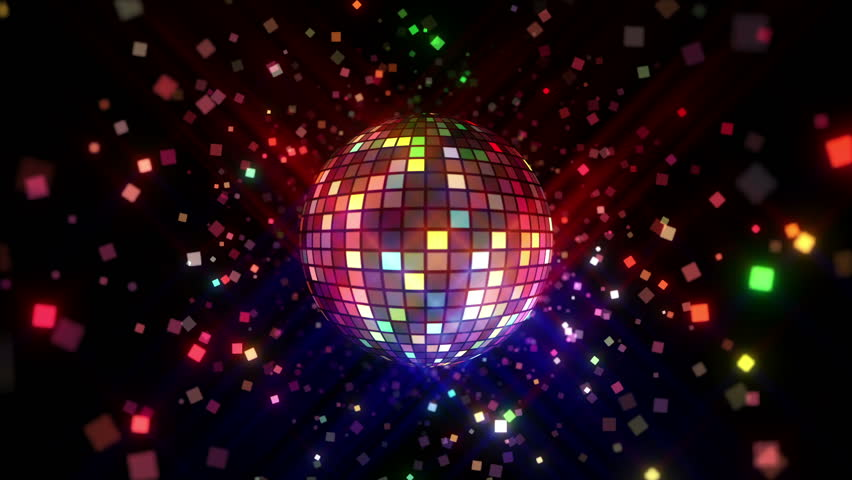 4k Disco Hypnotic Light Centerd Vj Loop Disco Effect: Rotating Disco Ball With Multicolor Light Effect And Smoke