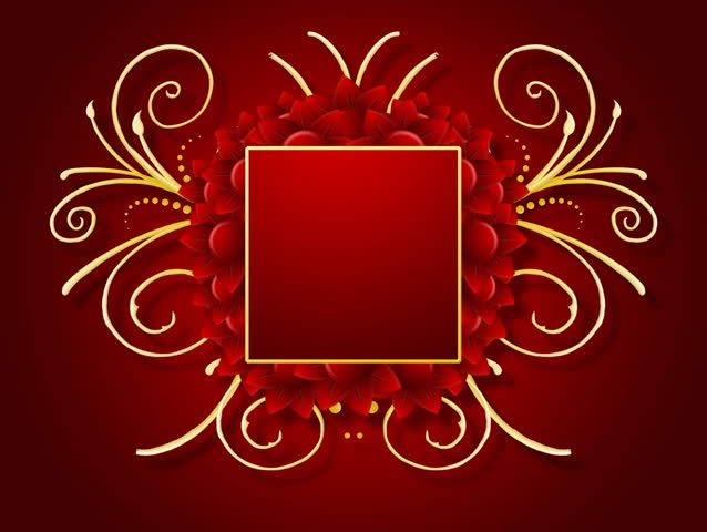 Title frame stock video footage title frame hd video clips bigstock growing golden title frame on red background with flowers hd cg animation voltagebd Image collections