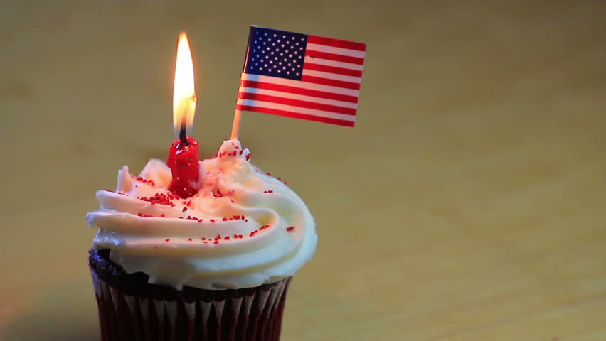 Happy Birthday Usa Cupcake Stock Footage Video 100 Royalty Free