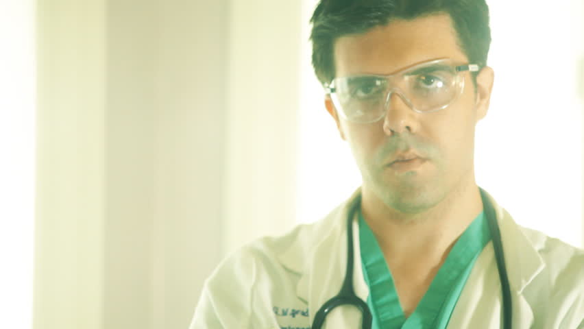 Disapproving doctor