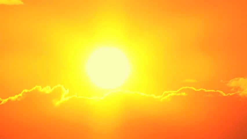 Beautiful orange sunset, time lapse #240313