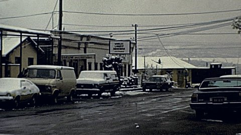 TOMBSTONE - 1985: cars parked in the street in 1985 in Tombstone
