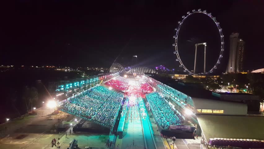 Singapore, Singapore - February 11, 2017 : Chingay festival 2017 at Singapore. This National Event is also the largest street performance and float parade in Asia | Shutterstock HD Video #24097036