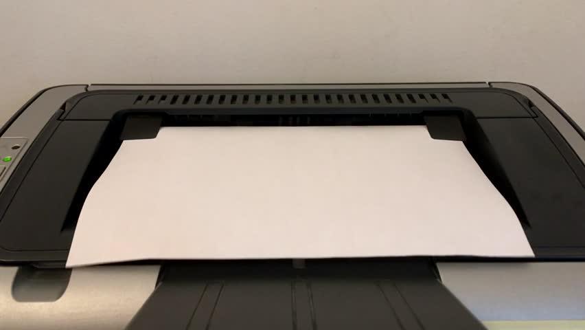 office printer prints paper