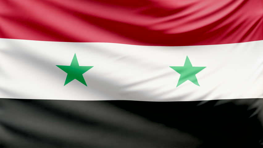 Realistic Beautiful Syria Flag K Stock Footage Video - Syria flag