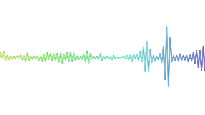 Sound waves moving graphic illustration. Concept of music, audio and volume animated as a digital pulse. | Shutterstock HD Video #24231536