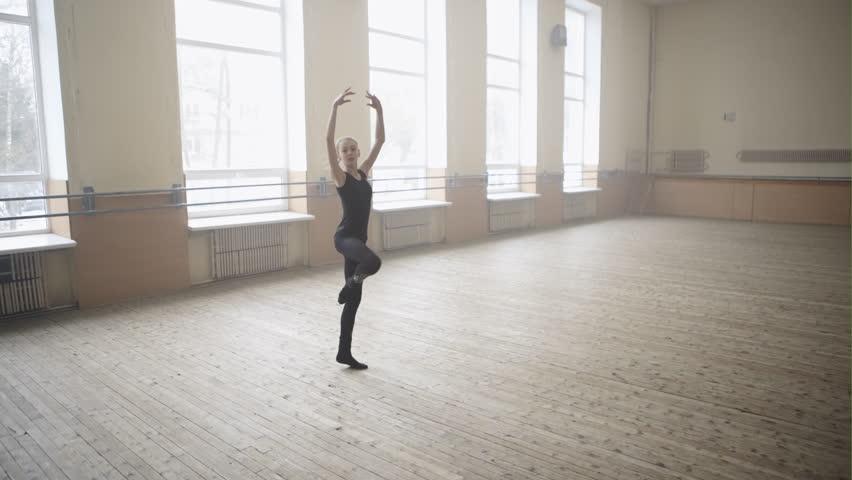 Corkscrew turn by little ballet dancer | Shutterstock HD Video #24233876