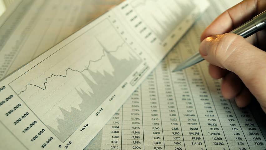 Businessman Making a Financial Securities Market Analysis | Shutterstock HD Video #24319511