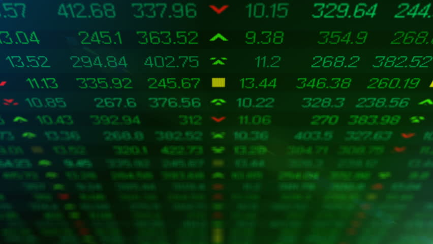 Animation of Stock market price ticker board in bear stock market day. Stock market board show financial crisis. Bad news hit stock market. Green ticker chart. | Shutterstock HD Video #24343466