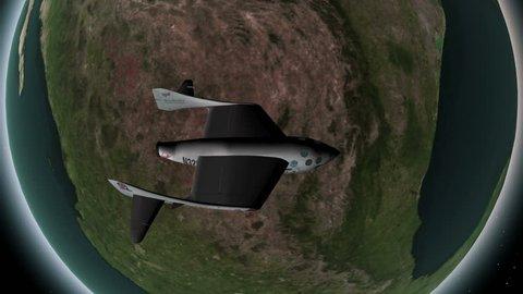 high-altitude research rocket animation, designed for sub-orbital flights. 4K UHD