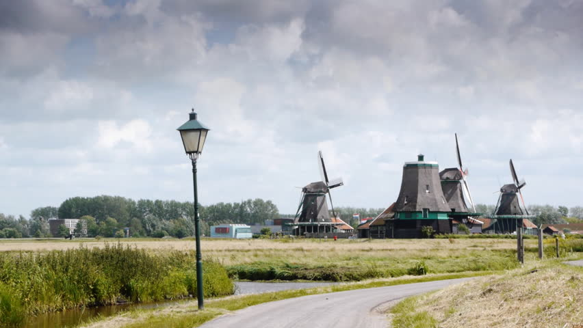 Wind mill landscape scenery